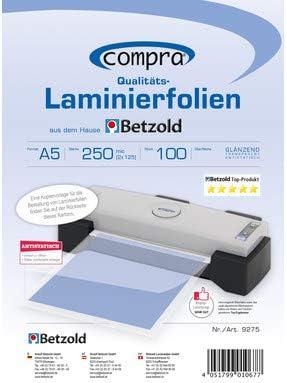 LAMINIERFOLIEN Beste Qualität LAMINIERUNG A5 100 MIC