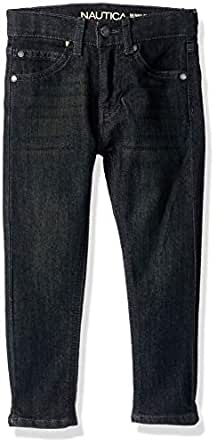 Nautica Toddler Boys' 5-Pocket Skinny Fit Jeans, Hart Dark Indigo, 2T
