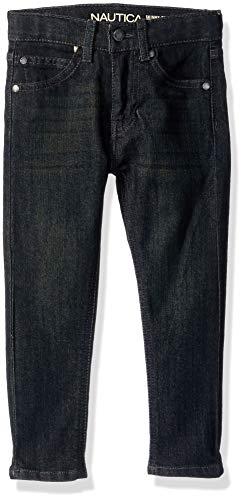 - Nautica Boys' Little 5-Pocket Skinny Fit Jeans, hart Dark Indigo, 5