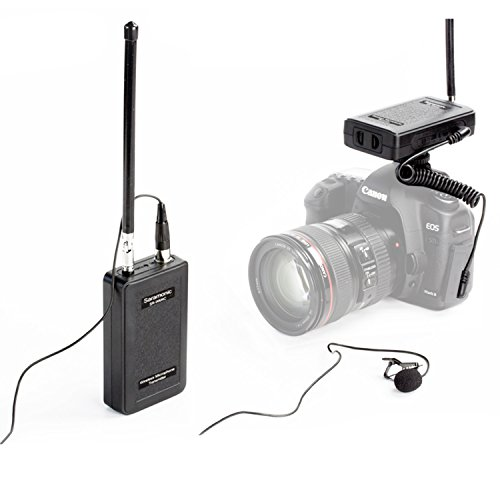 Wireless Lavalier Microphone,Saramonic SR-WM4C 4-Channels Lapel Mic System for DSLR Camera Canon Nikon Sony Panasonic DV Camcorders Audio Recorder