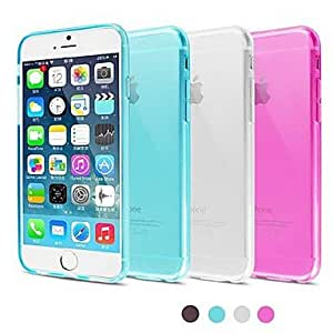 YULIN BIG D High Quality TPU Matte Soft Back Cover for iPhone 6(Assorted Color) , Black