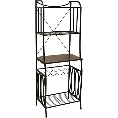 Better Homes and Gardens Mixed Material Baker's Rack, Mahogany Finish by Better Homes & Gardens