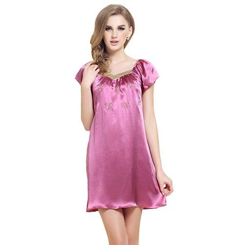 Forever Angel Women's 100% Pure Silk Sleepwear Dress Nigh...