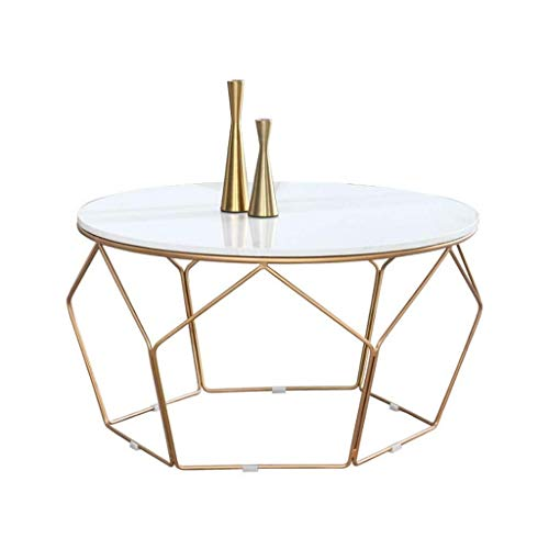 SDSL-Marble-Coffee-Table-Tables-Modern-Round-Coffee-Table-Mid-Century-SideEnd-Table-Couch-Desk-Bedside-for-Dcor-Home-Living-Room-Faux-Marble-Geometric-Metal-Frame-Living-Room-Sofa-Coffee-Table