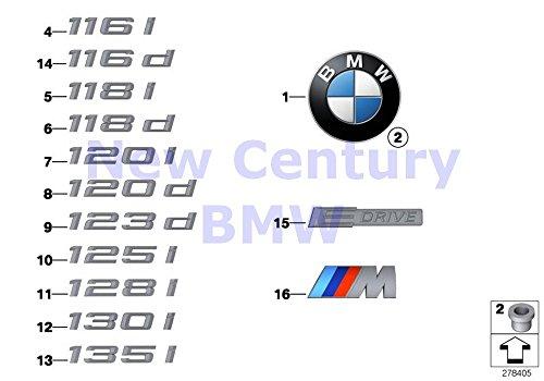 BMW Genuine Emblems / Letterings Badge D=70 MM 128i 135i M Coupé Active e 128i 135i