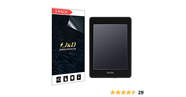 J/&D 3-Pack Kindle Paperwhite Screen Protector, Not Full Coverage Anti-Fingerprint Anti-Glare Premium Matte Film Shield Screen Protector for  Kindle Paperwhite