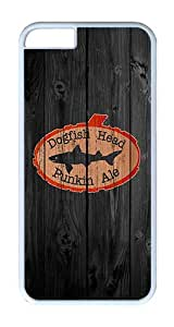 iPhone 6 Case, iPhone 6 Cover - Wood Dogfish Head Orange Scratch Protection Snap-on White Plastic Back Cover Case for iPhone 6 4.7 inch