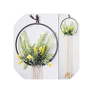 Sharing lives Artificial Flowers Simple Flower Three Dimensional Wall Decoration Pendant Creative Wall Decoration Wall Hanging Entrance Hall Decoration Pendant,B 27
