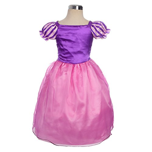 Dressy Daisy Girls' Princess Rapunzel Dress up Fairy Tales Costume Cosplay Party Size 2T