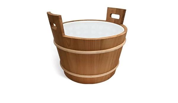 Large 10.5 gallon Cedar Sauna bucket with plastic liner