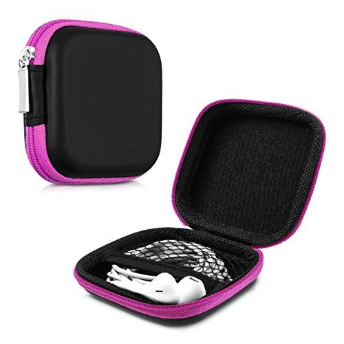 kwmobile Robuste Tasche Case für Kopfhörer in Pink - Hochwertige Schutzhülle für Ihre Kopfhörer