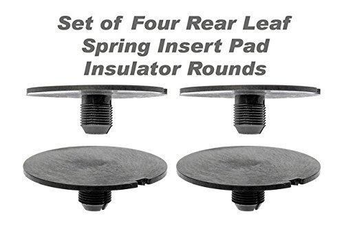 Rear Leaf Spring Insulator - TX Racing Rear Leaf Spring Plastic Insert Spacer (4PCS) For 1998-2011 Chevy GMC