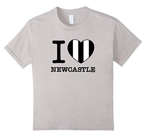 Kids I Love Newcastle T-Shirt, Black and White Striped He...