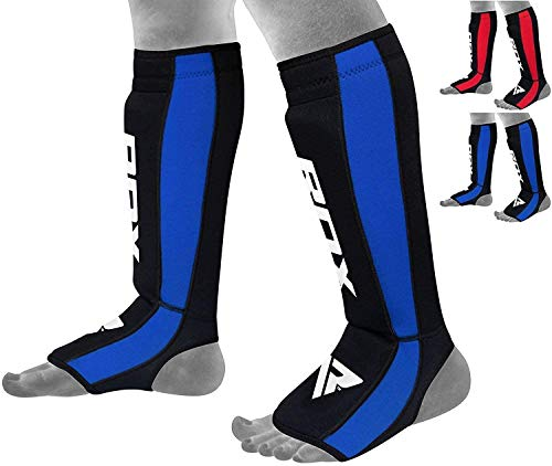RDX Shin Guards for Kickboxing, Muay Thai, MMA Fighting, Approved by SATRA, Neoprene Instep Leg Protector Foam Pads…