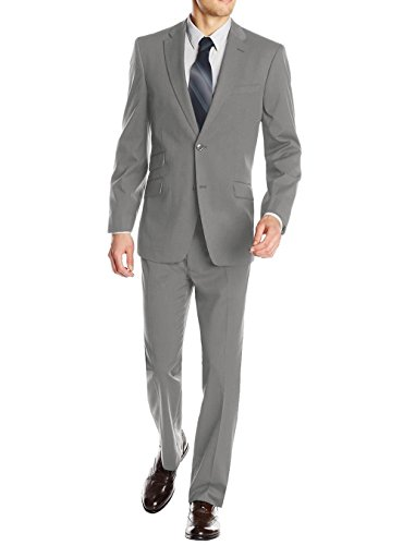 DTI GV Executive Men's Italian Suit Two Button Wool Ticket Pocket Jacket 2 Piece (46 Regular US / 56R EU/W 40