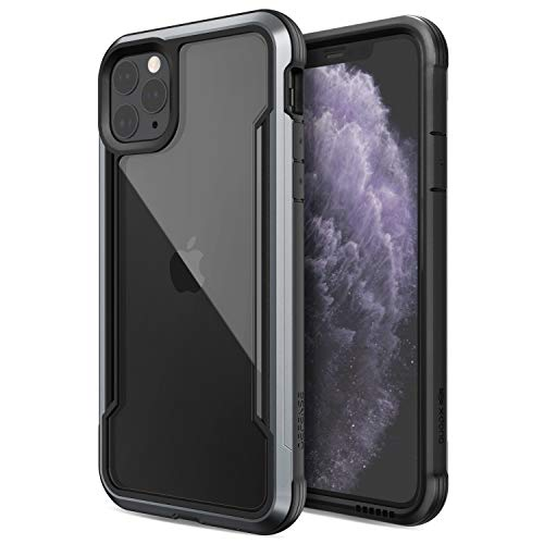 X-Doria Defense Shield, iPhone 11 Pro Max Case - Military Grade Drop Tested, Anodized Aluminum, TPU, and Polycarbonate Protective Case for Apple iPhone 11 Pro Max, (Black)