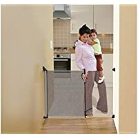 NEW Dreambaby Retractable Baby Mesh Stair Gate - Grey