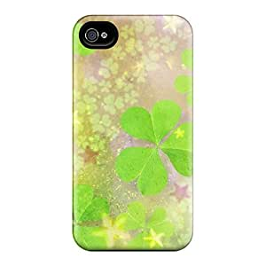 Fashionable BkIvs6226JlJUp Iphone 4/4s Case Cover For Clover Leaves 2 Protective Case
