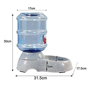 EDTara Automatic Pet Feeder with Transparent Barrel & Marble Base Water Fountain Food/Water Dispenser for Small Medium… Click on image for further info.