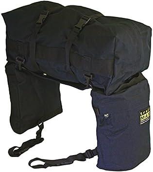 Trailmax Junior - Set de alforjas con bolsa para borrén trasero - Equipaje para silla vaquera de cowboy - Negro