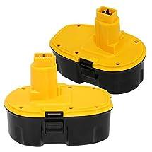 Batteriol 18V 3.0Ah Replacement Battery for Dewalt XRP DC9096 DE9039 DE9095 DE9096 DE9098 DW9095 DW9096 DW9098 DE9503 High Capacity Cordless Power Tools (Pod-Style)2 Pack