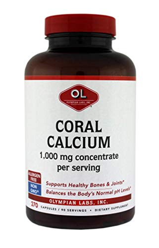 (Olympian Labs Coral Calcium, 1g Per Serving, 1000 mg, 270 Capsules)