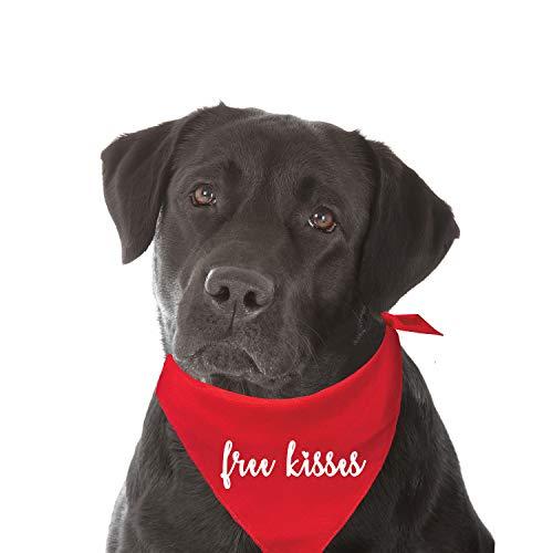 Free Kisses Fashion Printed Dog Bandana (Assorted Colors) -