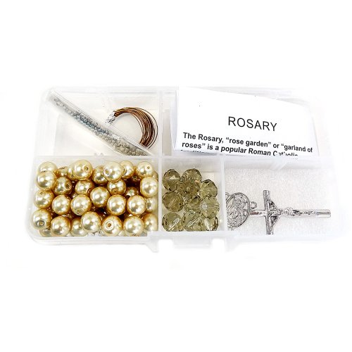 FIONA CR-1201 Crystal and Pearl Beads Rosary DIY Kit