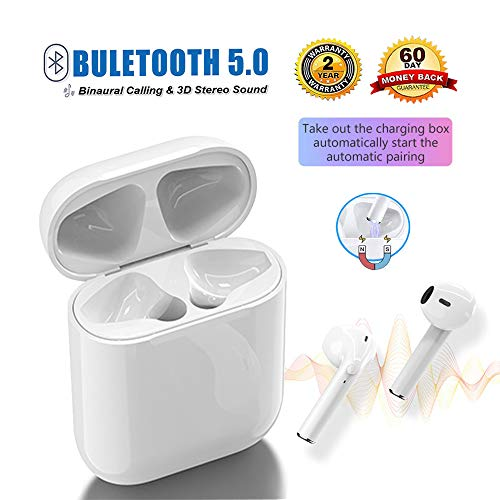 Bluetooth Headphones,Wireless Bluetooth Earbuds with Smart Noise Reduction,Pop-ups Auto Pairing,3D Stereo,Binaural Calling,for iPhone Apple Airpod and Airpods Bluetooth Headsets