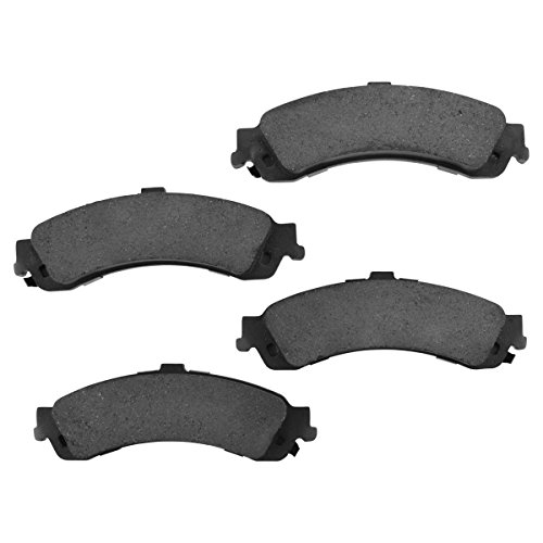 (Premium Posi Ceramic Brake Pad Rear Set Kit for Chevy GMC Cadillac 4WD)