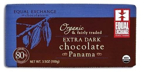 Equal Exchange Extra Dark Panama 80% Cacao 3.5 Oz -Pack of 12 - Cocoa Extra Dark Chocolate