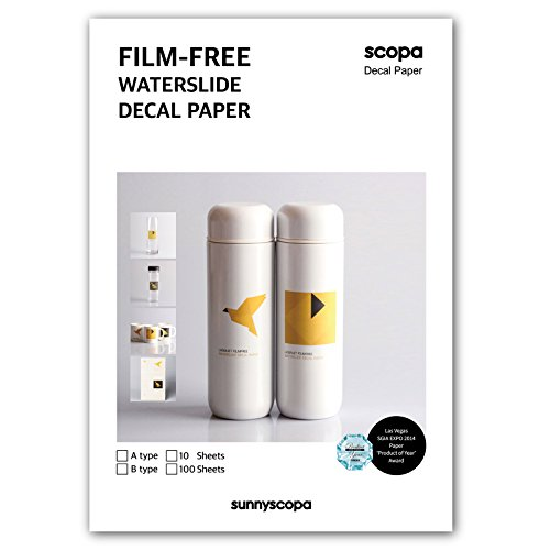 Sunnyscopa DIY Type A Film-free Waterslide Decal Paper A4 10 sheets by Sunnyscopa
