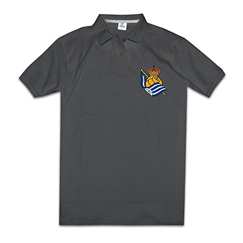 Men's Real Sociedad Logo Customized Polo Shirt Size M