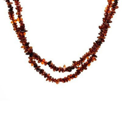Baltic Multicolor Amber Small Beads Long Necklace Length 76