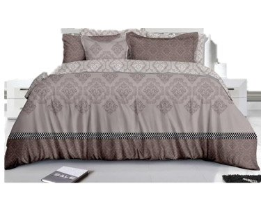 The renaissance Luxury 100% Polyester Comforter Cover (Taupe Floral, King)