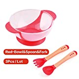 Best OXO Baby Spoons - Toonol Children's Tableware Baby Learning Dishes With Suction Review
