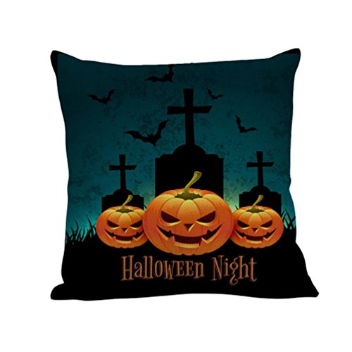 2017 Halloween Day Pillow Case,Elevin(TM)New Happy Halloween Day Pillow Cases Linen Sofa Cushion Cover Home Decor (Super Creative Halloween Costumes For Couples)