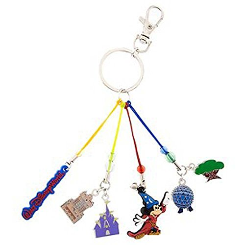 Disney Parks Keychain - Sorcerer Mickey Mouse Four Parks Icon Charms