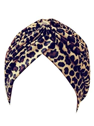 Choies Pleated Head Wrap Knit Bonnet Turban-Brown