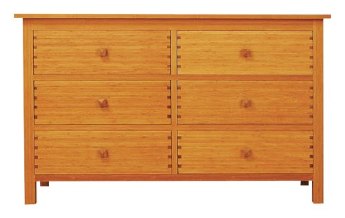 - GREENINGTON LLC GB0603 Hosta 6-Drawer Bamboo Dresser, Caramelized