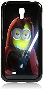 Despicable Me-Star Wars Minion-Hard Black Plastic Snap - On Case with Soft Black Rubber Lining-Galaxy s4 i9500 - Great Quality!