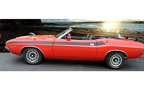 1971 Dodge Challenger Upper本体側Stripesキットinグロスブラックby Southern車パーツ B01KOVVSYG