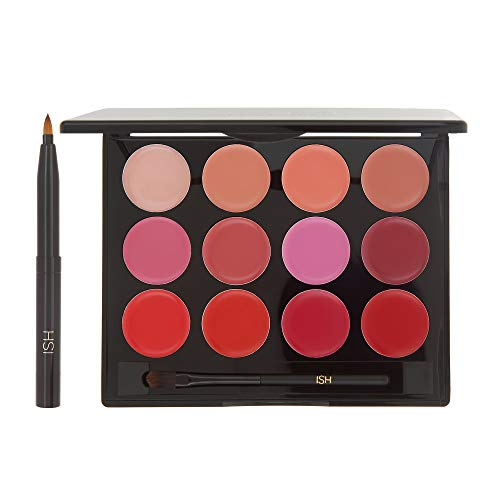 (ISH Cosmetics Lip Color Palette Moisturizing Lips (Palette + Brush Duo))