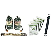 Bivy Sack 2 Emergency Sleeping Bags 4 Emergency Blankets and 2 Paracord Bracelet with Compass and Fire Starter. Survival…