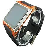 マルチタッチアルミ時計バンドカバーケース Apple iPod Nano 6th Generation用  8GB 16GB;ハンドストラップ iPod nano 6G(オレンジ)用