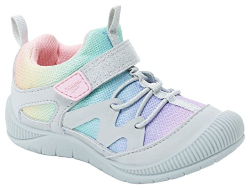 OshKosh B'Gosh Abis Girl's Protective Bumptoe Sneaker, Multi Color, 7 M US Toddler