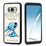 VONDER Galaxy S8 Plus Phone Case,Cute Lilo and Stitch Black TPU Phone Case for Galaxy S8 Plus Cover