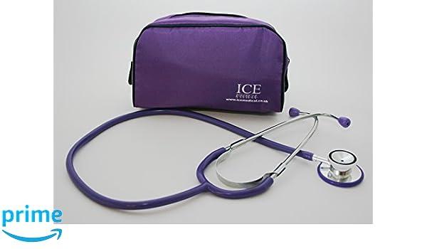 ICE Medical Purple Stethoscope - Dual Head by ICE Medical: Amazon.es: Salud y cuidado personal