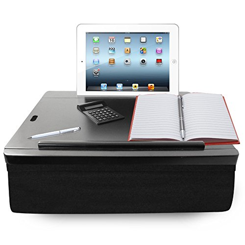 iCozy Portable Cushion Lap Desk With Storage - Black by iCozy