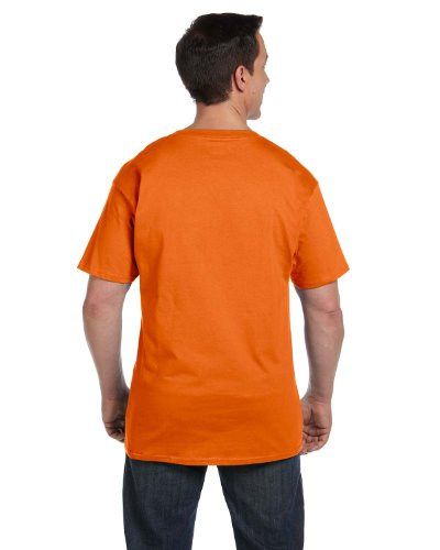 Erwachsene Beefy Shirt Pocket Orange T Hanes 5qvw80xq